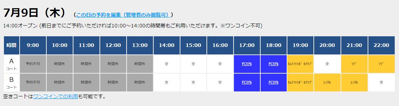 7/9(木)コート情報!